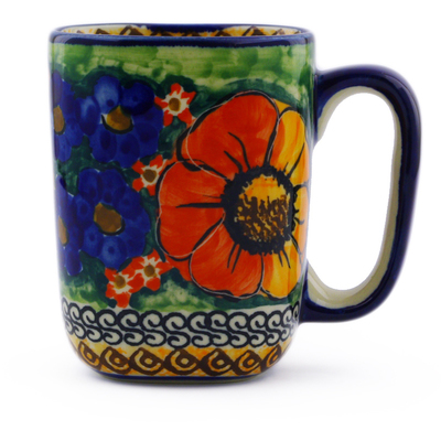 Polish Pottery 8 oz Mug | Boleslawiec Stoneware | Polmedia H6118D