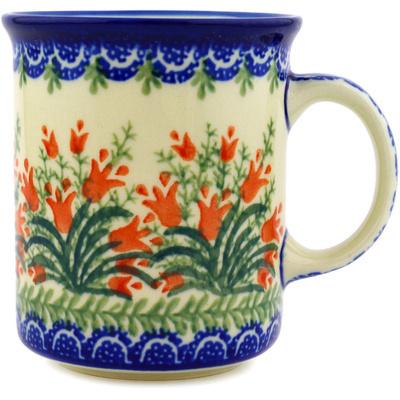 Polish Pottery 10 oz Mug   Boleslawiec Stoneware   Polmedia H1368D