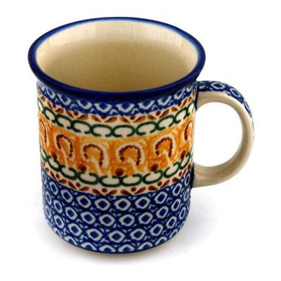 Polish Pottery 10 oz Mug | Boleslawiec Stoneware | Polmedia H4325A