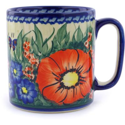 Polish Pottery 13 oz Mug | Boleslawiec Stoneware | Polmedia H1442J