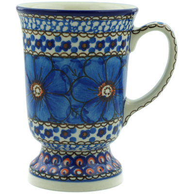Polish Pottery 8 oz Mug | Boleslawiec Stoneware | Polmedia H2816C