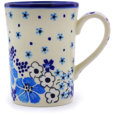 Polish Pottery 8 oz Mug   Boleslawiec Stoneware   Polmedia H0255J
