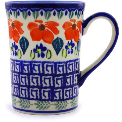Polish Pottery 8 oz Mug | Boleslawiec Stoneware | Polmedia H9509I