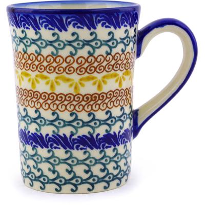 Polish Pottery 8 oz Mug   Boleslawiec Stoneware   Polmedia H9512I