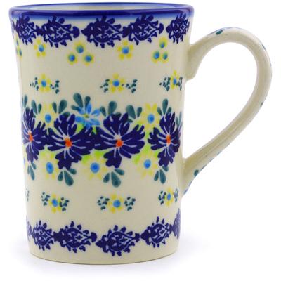 Polish Pottery 8 oz Mug   Boleslawiec Stoneware   Polmedia H0256J