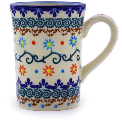 Polish Pottery 8 oz Mug   Boleslawiec Stoneware   Polmedia H0183J
