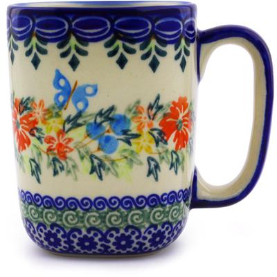 Polish Pottery 10 oz Mug | Boleslawiec Stoneware | Polmedia H9504I