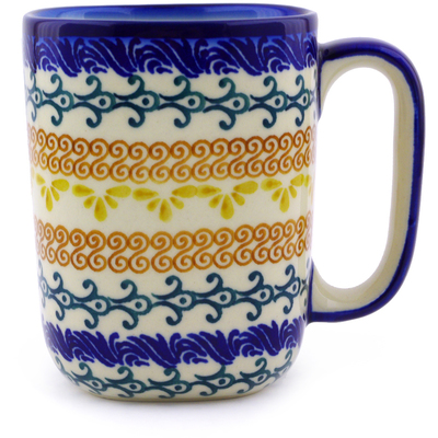 Polish Pottery 10 oz Mug | Boleslawiec Stoneware | Polmedia H9521I