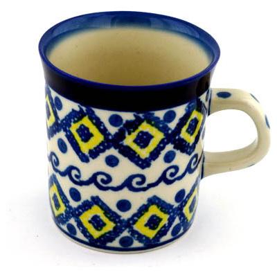 Polish Pottery 5 oz Mug | Boleslawiec Stoneware | Polmedia H2916B