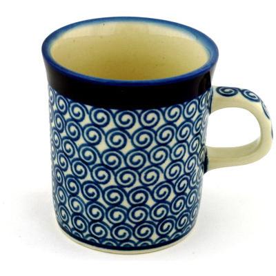 Polish Pottery 5 oz Mug | Boleslawiec Stoneware | Polmedia H0319B