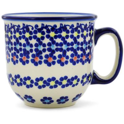 Polish Pottery 10 oz Mug | Boleslawiec Stoneware | Polmedia H8998I