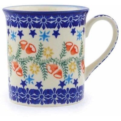Polish Pottery 8 oz Mug | Boleslawiec Stoneware | Polmedia H1231J