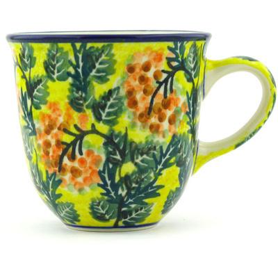 Polish Pottery 10 oz Mug   Boleslawiec Stoneware   Polmedia H3974G
