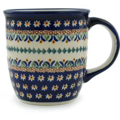 Polish Pottery 12 oz Mug | Boleslawiec Stoneware | Polmedia H7528A