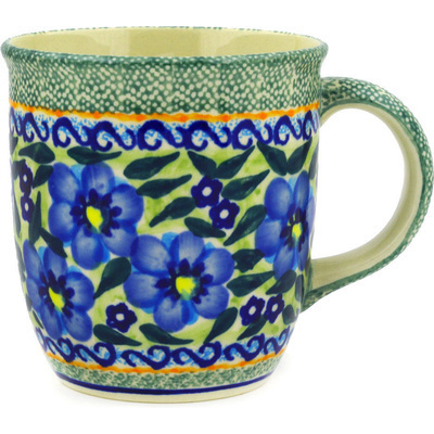 Polish Pottery 12 oz Mug | Boleslawiec Stoneware | Polmedia H0065E
