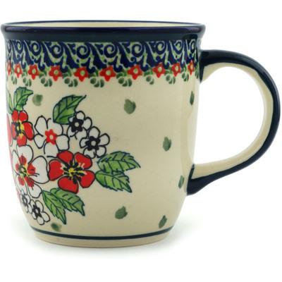 Polish Pottery 12 oz Mug | Boleslawiec Stoneware | Polmedia H4280I