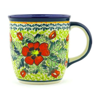 Polish Pottery 12 oz Mug   Boleslawiec Stoneware   Polmedia H1051G
