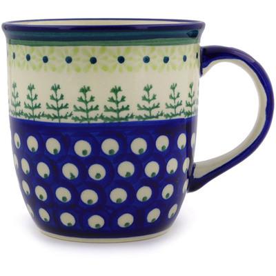 Polish Pottery 12 oz Mug | Boleslawiec Stoneware | Polmedia H8210A