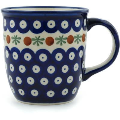Polish Pottery 12 oz Mug | Boleslawiec Stoneware | Polmedia H8722B