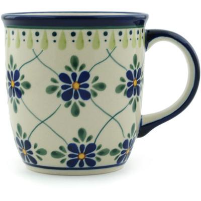 Polish Pottery 12 oz Mug | Boleslawiec Stoneware | Polmedia H4693C