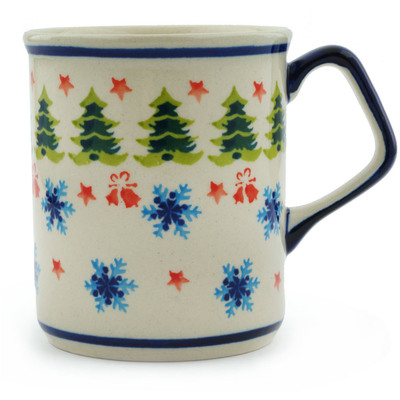 Polish Pottery 8 oz Mug | Boleslawiec Stoneware | Polmedia H4210I