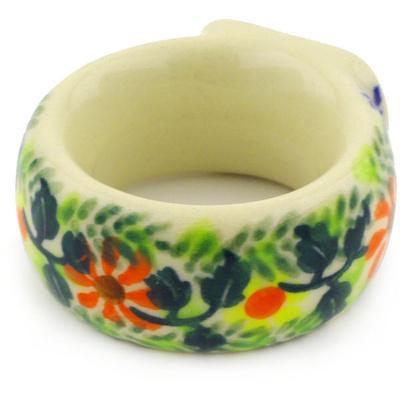 Polish Pottery 2-inch Napkin Ring | Boleslawiec Stoneware | Polmedia H6450F