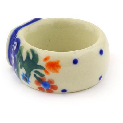 Polish Pottery 2-inch Napkin Ring | Boleslawiec Stoneware | Polmedia H3837E