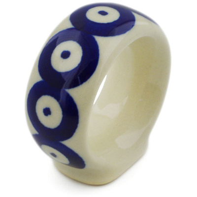 Polish Pottery 2-inch Napkin Ring | Boleslawiec Stoneware | Polmedia H3510H