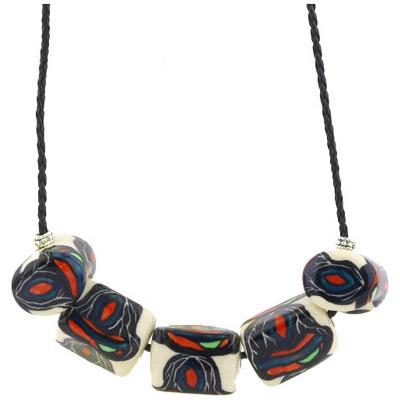Polish Pottery 24-inch Necklace | Boleslawiec Stoneware | Polmedia H0325G