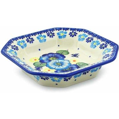 Polish Pottery 8-inch Octagonal Bowl | Boleslawiec Stoneware | Polmedia H0141J