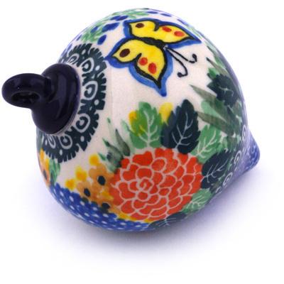 Polish Pottery 4-inch Ornament Christmas Ball | Boleslawiec Stoneware | Polmedia H5564G