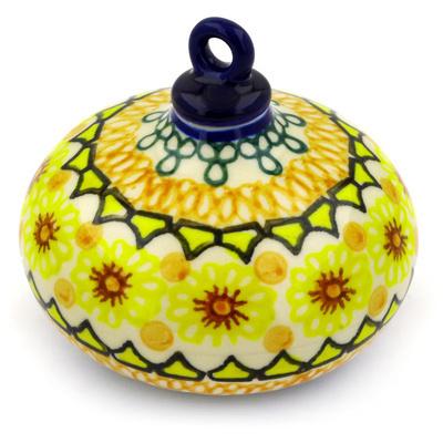 Polish Pottery 4-inch Ornament Christmas Ball | Boleslawiec Stoneware | Polmedia H4738D