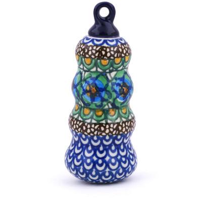Polish Pottery 4-inch Ornament Christmas Ball | Boleslawiec Stoneware | Polmedia H5956G