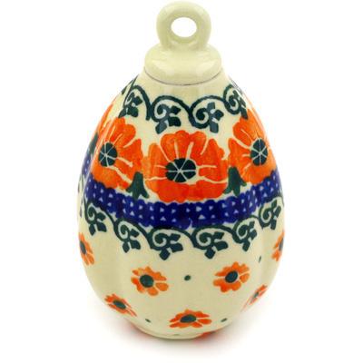 Polish Pottery 4-inch Ornament Christmas Ball | Boleslawiec Stoneware | Polmedia H4782D