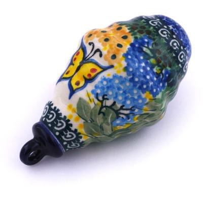 Polish Pottery 4-inch Ornament Christmas Ball | Boleslawiec Stoneware | Polmedia H6410G