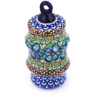 Polish Pottery 4-inch Ornament Christmas Ball | Boleslawiec Stoneware | Polmedia H5957G
