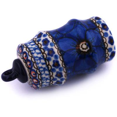 Polish Pottery 4-inch Ornament Christmas Ball | Boleslawiec Stoneware | Polmedia H6503G