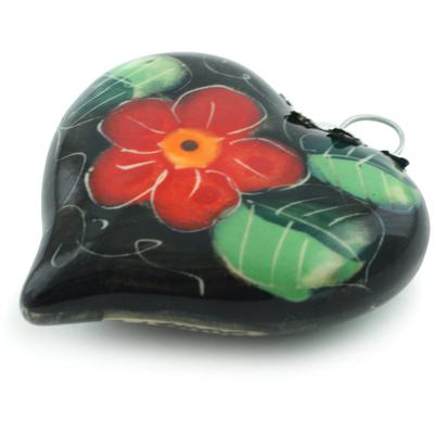 Polish Pottery 3-inch Ornament Heart | Boleslawiec Stoneware | Polmedia H4396I