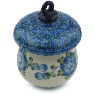 Polish Pottery 4-inch Ornament Mushroom | Boleslawiec Stoneware | Polmedia H4108I