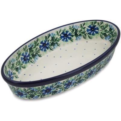 Polish Pottery 9-inch Oval Baker | Boleslawiec Stoneware | Polmedia H3938A