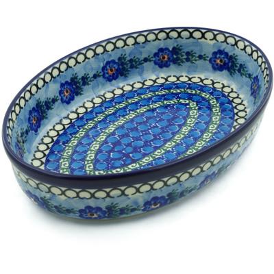 Polish Pottery 12-inch Oval Baker | Boleslawiec Stoneware | Polmedia H5105A