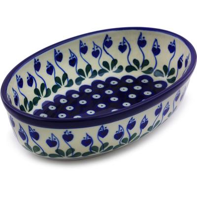 Polish Pottery 8-inch Oval Baker   Boleslawiec Stoneware   Polmedia H7218I