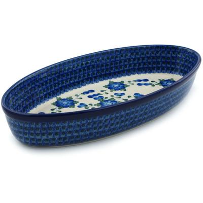 Polish Pottery 15-inch Oval Baker | Boleslawiec Stoneware | Polmedia H4642I