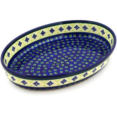 Polish Pottery 12-inch Oval Baker | Boleslawiec Stoneware | Polmedia H5729D