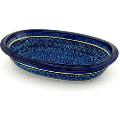 Polish Pottery 10-inch Oval Bowl | Boleslawiec Stoneware | Polmedia H0501A