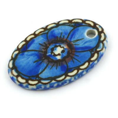 Polish Pottery 2-inch Oval Pendant | Boleslawiec Stoneware | Polmedia H5830G