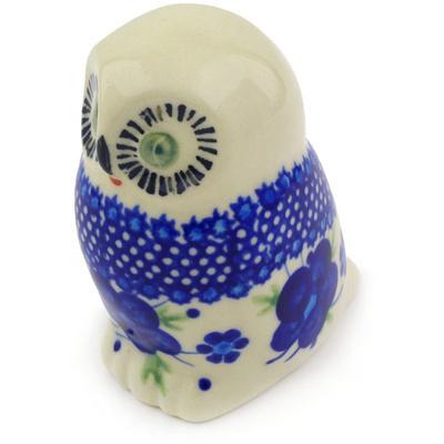Polish Pottery 4-inch Owl Figurine | Boleslawiec Stoneware | Polmedia H6516F