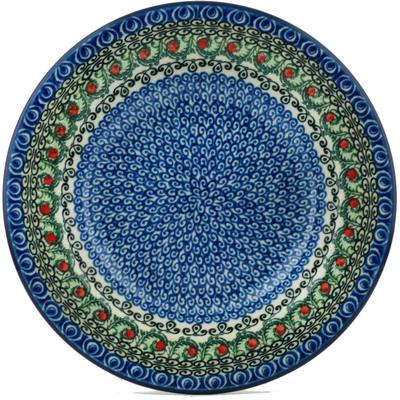 Polish Pottery 9-inch Pasta Bowl | Boleslawiec Stoneware | Polmedia H5271I
