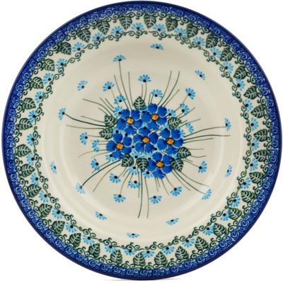 Polish Pottery 9-inch Pasta Bowl   Boleslawiec Stoneware   Polmedia H0656I