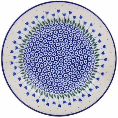 Polish Pottery 9-inch Pasta Bowl | Boleslawiec Stoneware | Polmedia H0017B